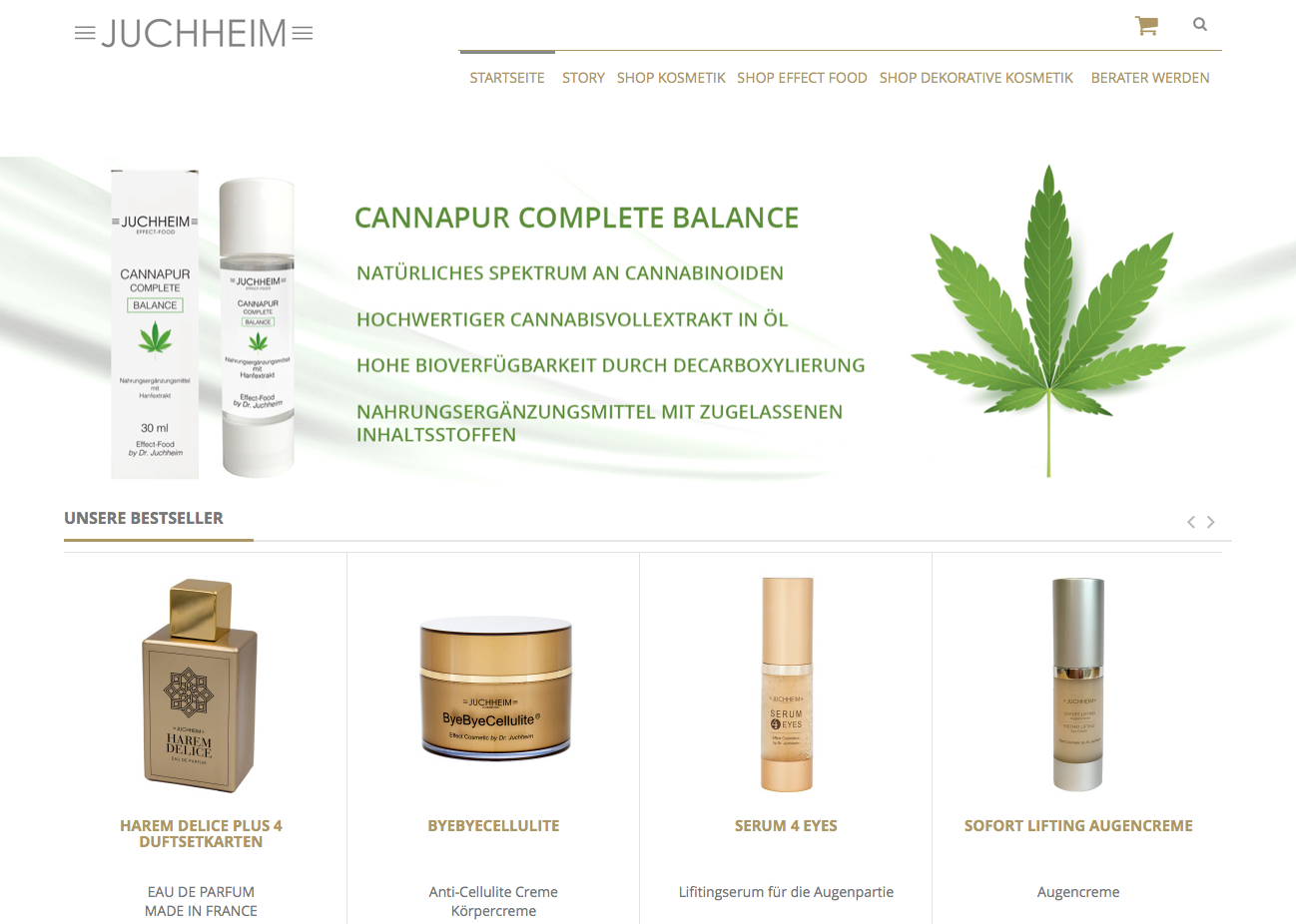 Screenshot Juchheim Cosmetics Shop